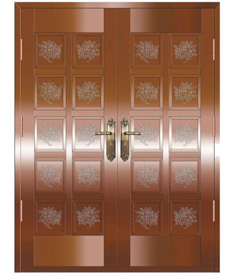 铜门—富贵牡丹